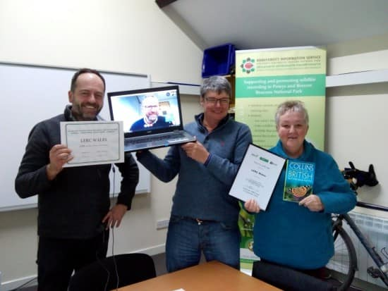 LERC Wales Runners-up for NBN Lynne Farrell Wildlife Recording Group Award