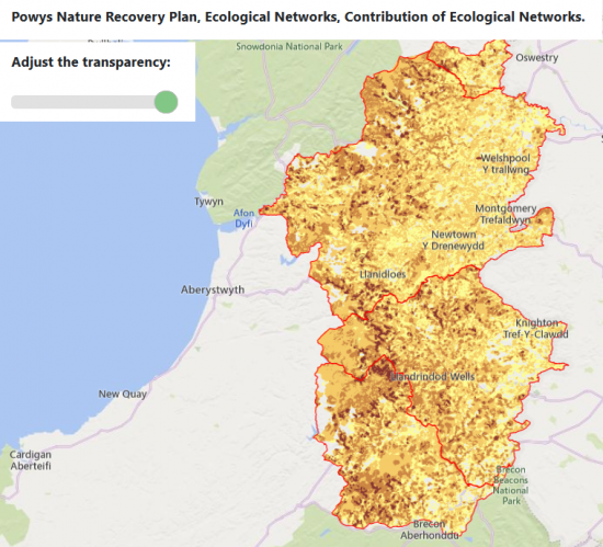 Powys Nature Recovery Action Plan Ecological Networks Maps now LIVE!