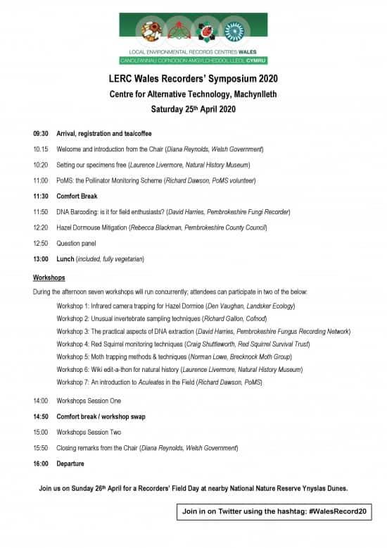 LERC Wales Symposium, Machynlleth. Saturday 25th April